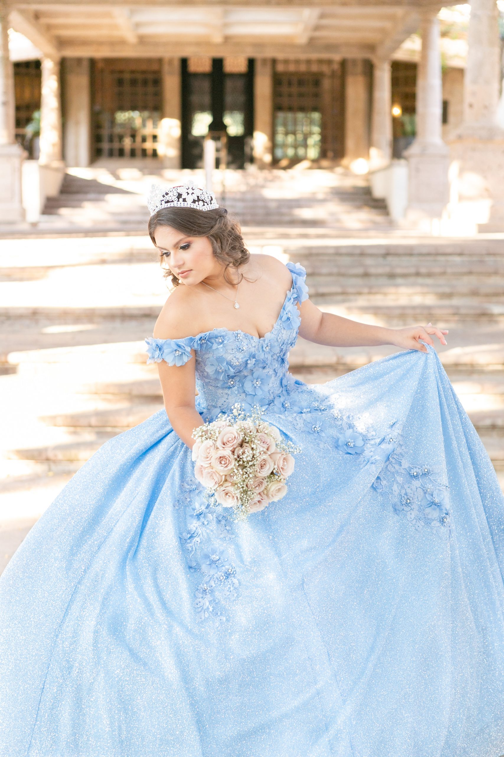 Quinceanera portrait dress by Alamo Bridal at the Dominion Country Club in San Antonio, Texas by Paty Araujo Photography